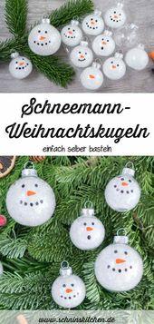 Photo of DIY DIY Schneemann Weihnachtskugeln