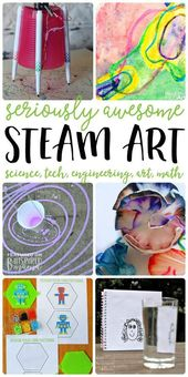 7 STEAM Art Activities your kids will love - All the fun of science, technology,... 2