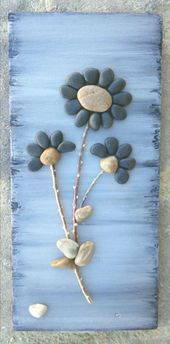 Pebble Art Rock Art Pebble Art Flowers Rock Art Flowers – #Art #flowers #galet #Re …