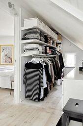 Ankleidezimmer unter Dachschräge selber gestalten…