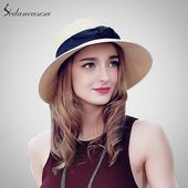 Fashion Multicolor Women Ladies Summer Beach Panama Wide Brim Sun Hat Foldable Female Straw Cap and Bow SW120017 – To buy