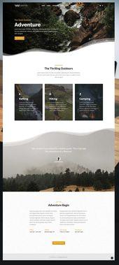 Outdoor Adventure Business Booking Modern WordPress Theme. Uneven section edges….  – DESIGN: Online