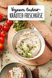 Veganer Cashew-Kräuter-Frischkäse