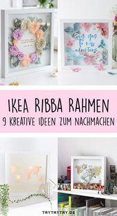 Tolle DIY-Ideen mit dem IKEA RIBBA-Rahmen – Egal ob Sparbüchse, Geldgeschenk, …   – Ideen