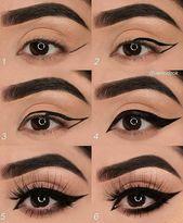Cc @theemakeupgram – Anleitung zum Schminken von Augen – drop ® √ • ••… #eye #eyemakeup #makeup #augenmakeup – Eye