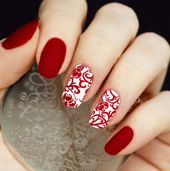 Elegante Blumen Nail Art Stempel Vorlage BP17 # 17262 #acrylicnailart #flowernaild …   – flower nail designs