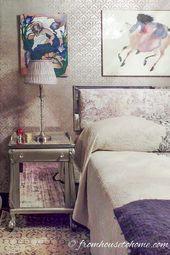 Elegant Gray and Purple Bedroom Makeover   – Purple Home Decor Ideas