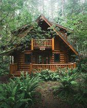 Schönes Blockhaus im Wald – #Blockhaus #im #logca…