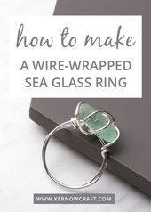 Wire Wrapped Sea Glass Ring Kit – Diy and Crafts – Wire Wrapped Sea …