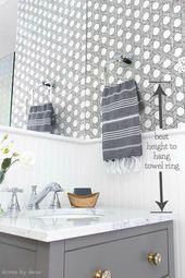 Must-Have-Maße für Ihr Badezimmer (Wie hoch können Handtuchhalter, Wandlampen, Toilettenpapierhalter und mehr aufgehängt werden!)
