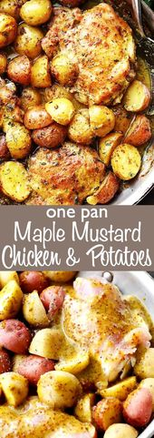 Maple Mustard Chicken and Potatoes – Maple syrup mustard chicken and potatoes, a…