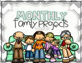 Monthly Family Projects (August – June) – classroom