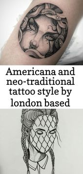 Americana and neo-traditional tattoo style by london based artist 1