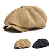 Details about COTTON TWILL GATSBY CAP NEWSBOY IVY DRIVING HAT GOLF CABBIE MEN BLACK KHAKI V