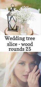 Wedding ceremony tree slice – wooden rounds 25