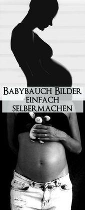 Faites simplement des photos du ventre de grossesse vous-même – idées et mise en œuvre   – Geburt