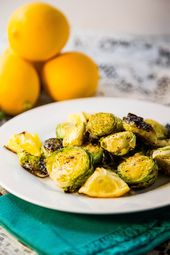 Lemon Roasted Brussels Sprouts   – Side Dishes