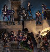 "comicweek: ""The Batfamily and Visitor – SamDelaTorre"""