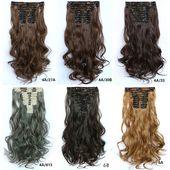 Frauen 12 Stück Lockenklammer Haarverlängerung, 55cm lang Haareinschlagfaden, #55cm #bellami…