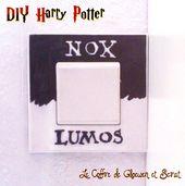 DIY Harry Potter : L'interrupteur Poudlard – le coffre de Scrat et Gloewen, couture, lecture, DIY, illustrations…