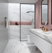 Badfliesen-Designs, Trends & Ideen #bathroomtileideaswickes