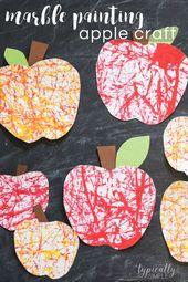 Marble Painting Apple Craft – #Apple #Craft #forki…