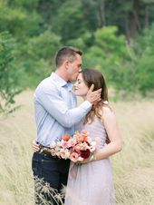 Engagement Session Bouquet, Peachy Summer Bouquet, Garden Roses, Ranunculus, Lis…   – Arizona Wedding Photographer | Fine Art Film Wedding Photography | Ball Photo Co