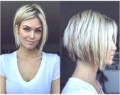Kurzes Haar 2019 rundes Gesicht #FrisurenfrrundeGesichter #hairstylesforroundfaces2019