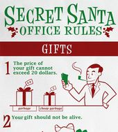 Secret Santa Office Rules Santa Funny