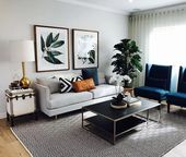 We love this sophisticated living room by @june_dolphin – A perfect balance of d