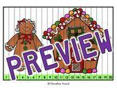 Weihnachtsaktivitätskindergarten, erste Klasse im Dezember, die Puzzlespiele zählt   – December- Christmas  and Winter Classroom Lessons