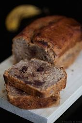"""Cake """"healthy"""" à la banane et chocolat"""