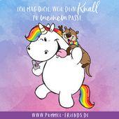Freundschaft ist, wenn Verrückte mit Verrückten noch verrückter sind! 💜  #pummelandfriends #pummeleinhorn #buddy #rocky