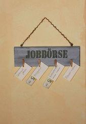 Pinnwände – Holzschild : Jobbörse für Kinder – ein Designerstück von Linda-Thom-Lillis-Handcraft bei DaWanda