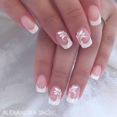 Stunning french salon nails from Alexa Product used: Moyra acrylic powders, Moy…