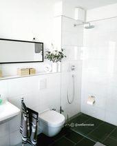 Ich Liebe Unser Schlichtes Bad Grosse Schwarz Weisse Fliesen Begehbare Regendusche Viel Tage Regendusche Weisse Fliesen Dusche