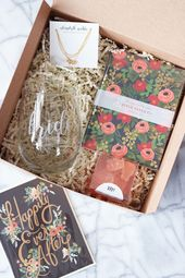 The cutest gift box for your recently engaged or soon-to-be-married girlfriend!