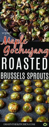 Maple Gochujang Roasted Brussels Sprouts – Perfectly oven-roasted Brussels Sprou…