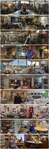 Illustrator Workspace 360° Panoramas of Artists in their Studios - Bohonus VR photography www.bohonus...