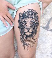 50 auffällige Löwentattoos, die Sie zum Klingen bringen – Tattoo-Ideen – # on … #diytattooimages   – diy tattoo images