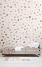 Photo of Cute Polka Dot Wallpaper Mural | MuralsWallpaper
