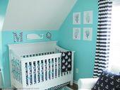 Conception d'une pépinière nautique turquoise vif pour un garçon | Kidsomania
