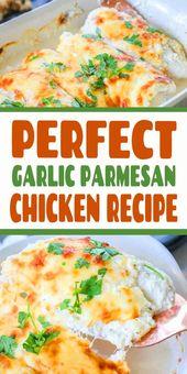 Dieses Knoblauch-Parmesan-Huhn hat einige der besten Aromen aller Hühn …