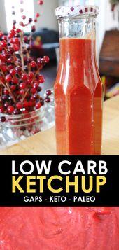 Ketchup Paléo à faible teneur en glucides! Apprendre à faire du ketchup est facile avec ce soin …