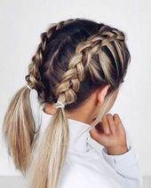 Penteados trançados franceses bonitos para cabelos longos …   – Haare