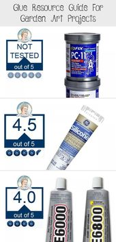 This guide helps you choose the right adhesive glue for your outdoor garden art …   – garden decor