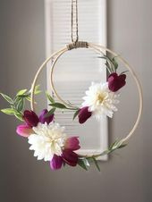 Boho floral dreamcatcher wreath