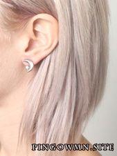 Ich stecke dies für die Haarfarbe fest – aber ich gebe Crescent Moon Earri # …   – haar pastell