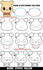 How to Draw a Cute Chibi / Kawaii Winnie The Pooh Easy Step by Step Drawing Tutorial for Beginners