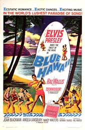 Elvis Blue Hawaii Classic Traditional Film Poster Artwork